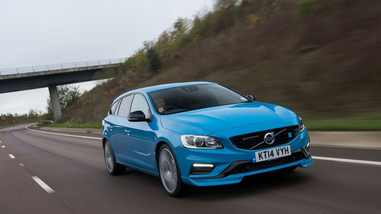 Volvo V60 Polestar estate front tracking
